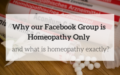 Why the Moms Using Homeopathy Facebook Group is Homeopathy Only