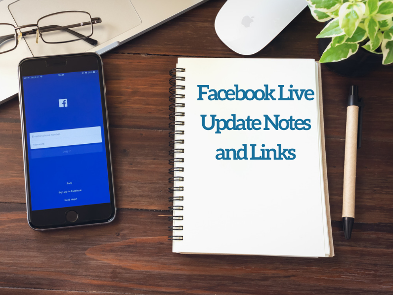 December Facebook Live Notes and Links