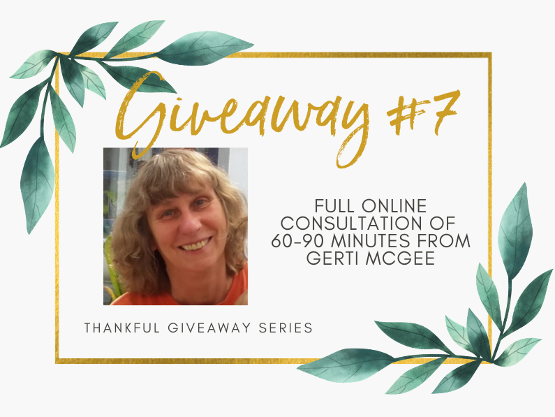 Giveaway #7 – Full Online Consultation of 60-90 Minutes with Gerti Magee, Certified Homeopath