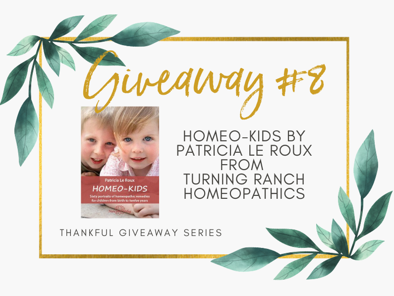 Giveaway #8 – Homeo-Kids by Patricia Le Roux – Turning Ranch Homeopathics