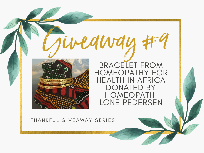 Giveaway #9: Bracelet from Homeopathy for Health in Africa donated by Lone Pedersen